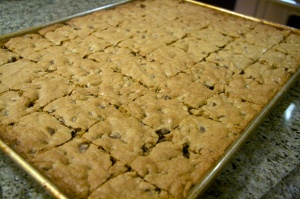 Blondies, Chocolate chips