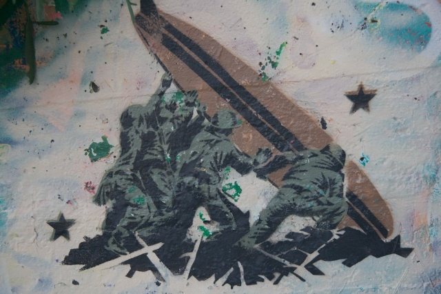 Iwo Jima, Stencil, Bolinas, Graffiti