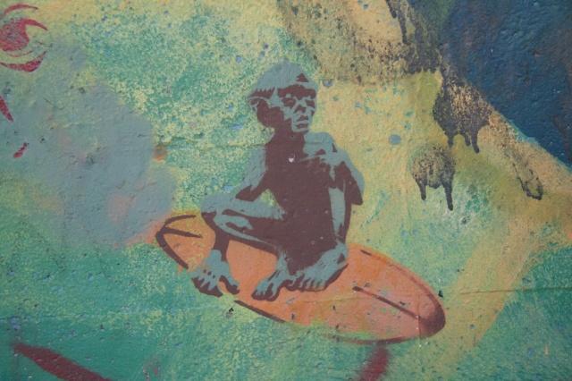 Gollum, Graffiti, Surfing Golum