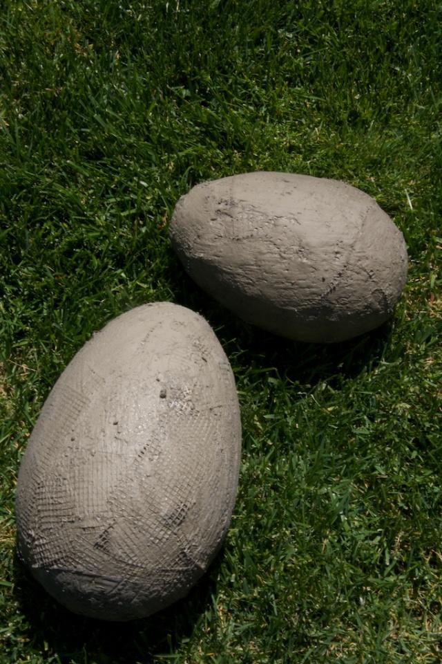 eggs, cement