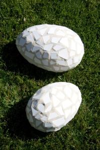 cement, eggs