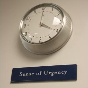 Sense of Urgency, clock, Bouchon, Thomas Keller, kitchen