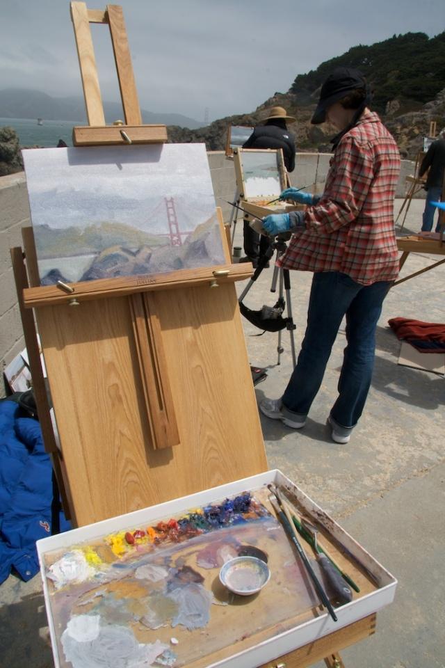 plein air painting, SF. Land's End