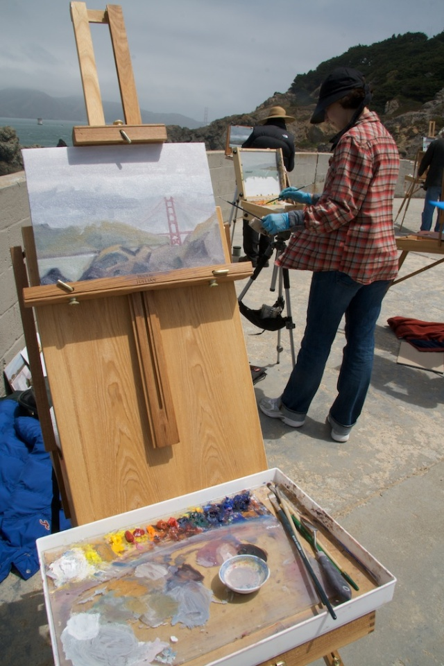 plein air painting, SF. Land's End