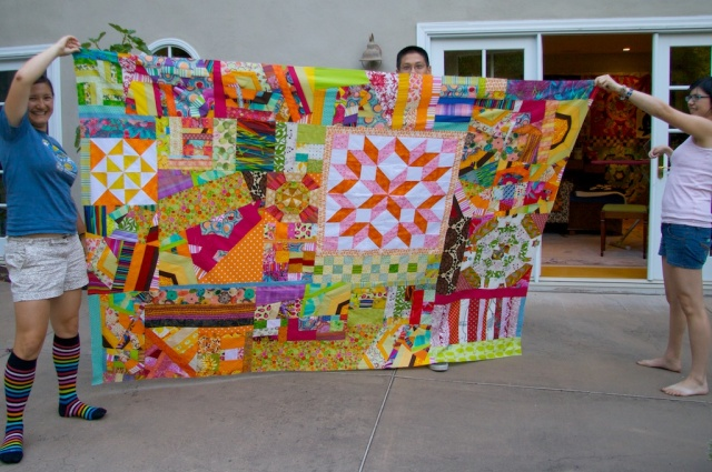The kids, the quilt
