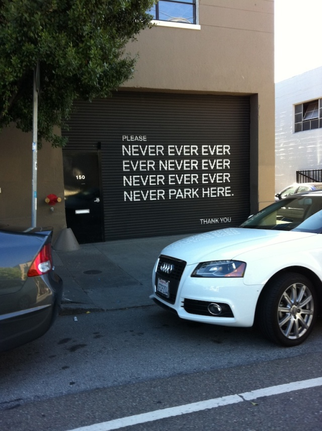 Never Ever Parking