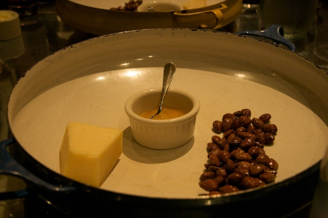 Cheese, Almonds, Fuji Apple Butter