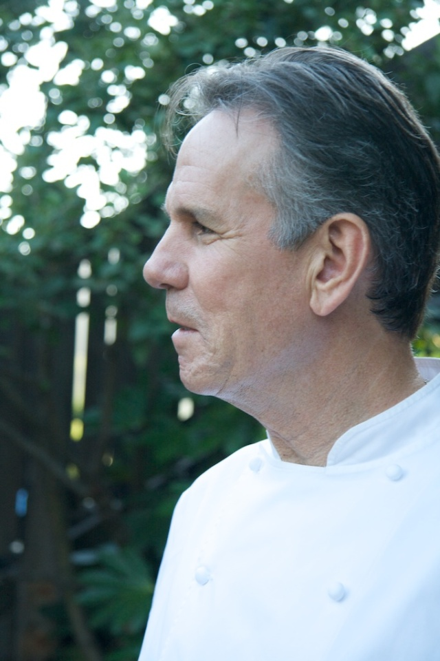 Thomas Keller in the Front Courtyard