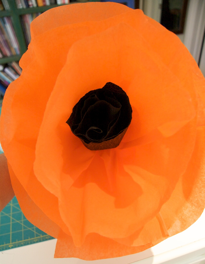 Crepe Paper Poppy Flower A Tutorial Piecedgoods