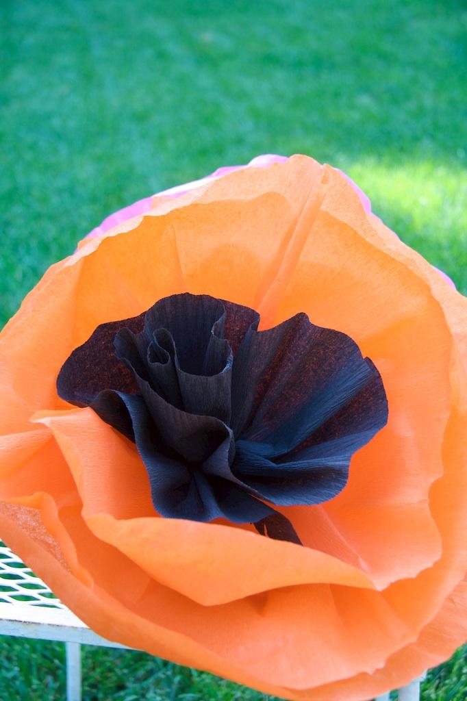 Crepe paper poppy flower a tutorial piecedgoods we mightylinksfo Gallery