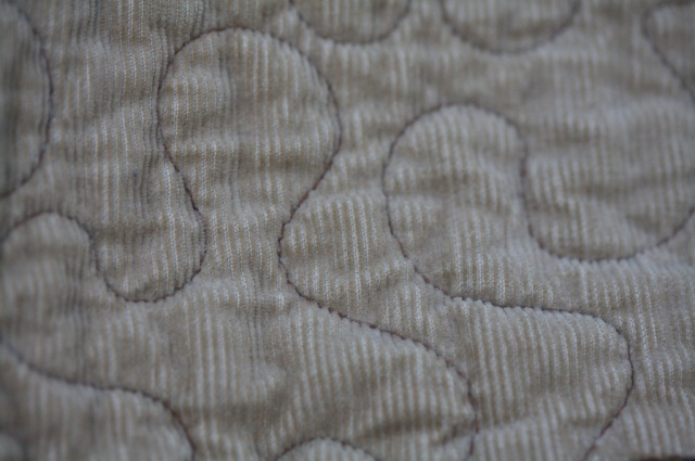 Meander Corduroy quilting