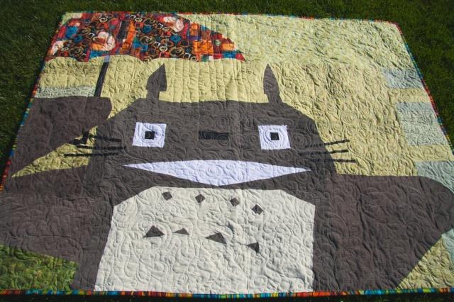 Totoro Quilt in Corduroy