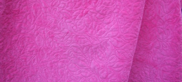 Minkee backing, free motion quilting