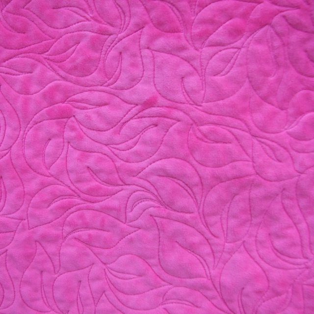 Minkee back quilting