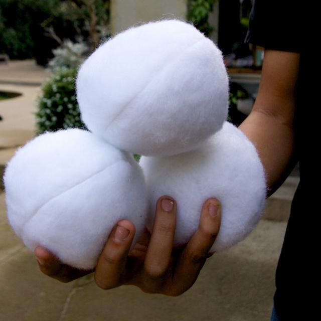 Fabric Snowballs