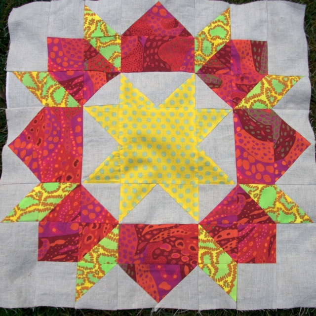 Red Linen Swoon Block
