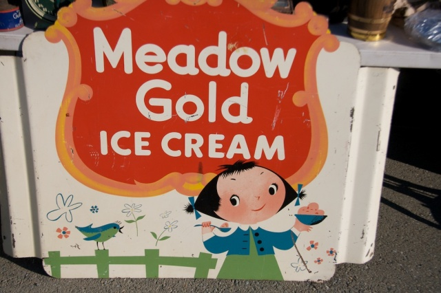 Meadow Gold Ice Cream Sign