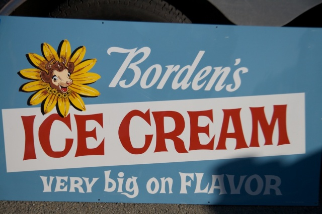 Borden's Ice Cream Sign