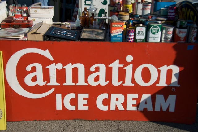 Carnation Ice Cream Sign