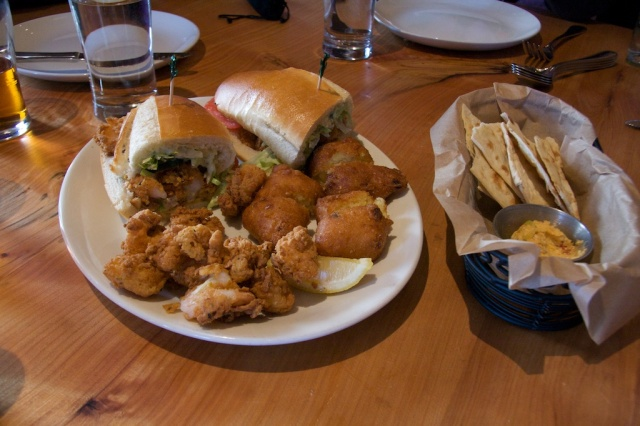 Shrimp Po'Boy at The Boxing Room