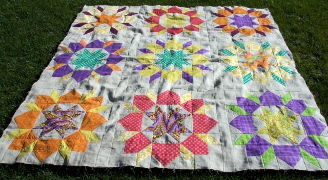 Piecedgoods Linen Swoon quilt