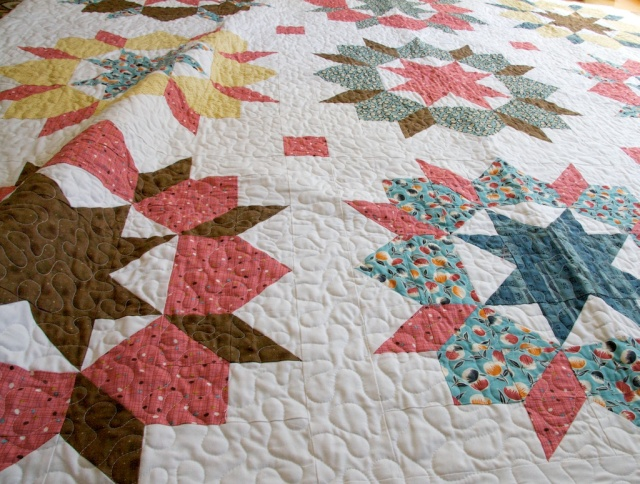 Swoon Quilt Meander Quilted