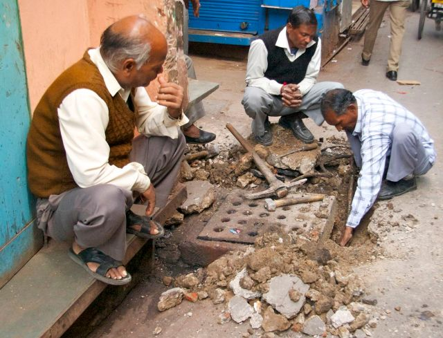 Digging in Chandni Chowk - Old Delhi
