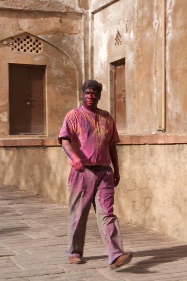 Holi at the Agra Fort