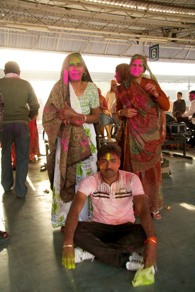 Holi at the Train Station