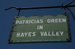 Patricia's Green in Hayes Valley Sign