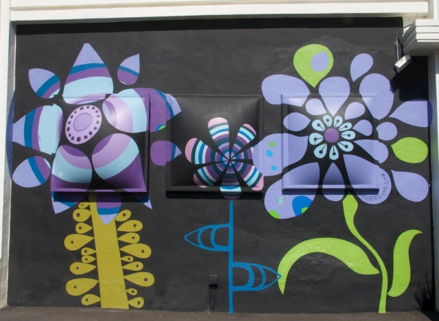 Purple Flower mural Hayes Street
