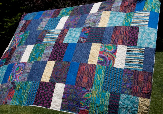 Blue Rectangles Quilt