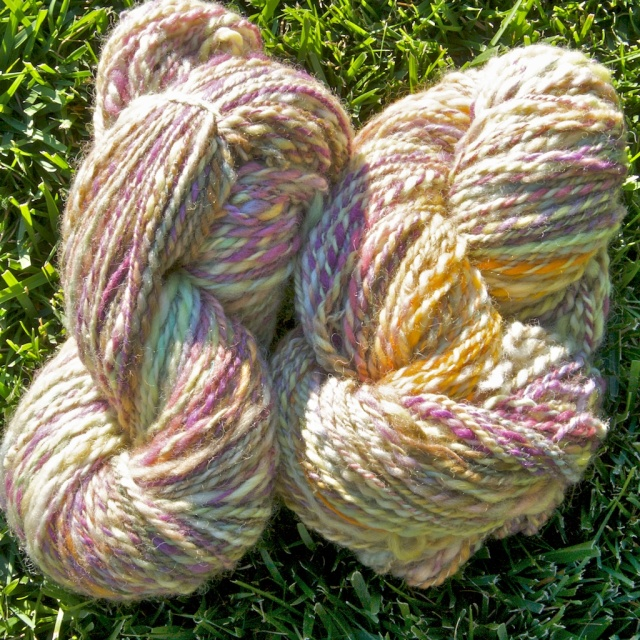 2ply Spun from Crown Mountain Farms Roving