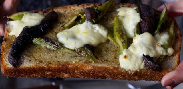 Outerlands  Asparagus Portobello Sandwich