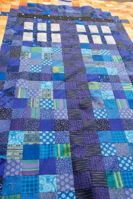 piecedgoods, Tardis, Tardis Quilt, Quilt Tardis, patchwork Tardis, Tardis baby quilt
