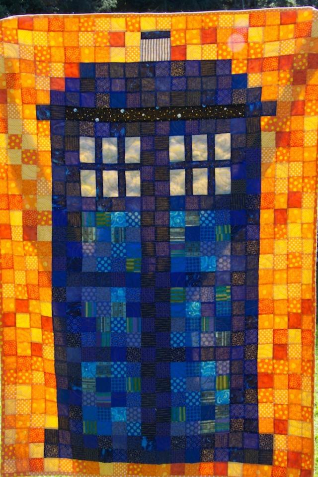 Tardis Quilt by piecedgoods