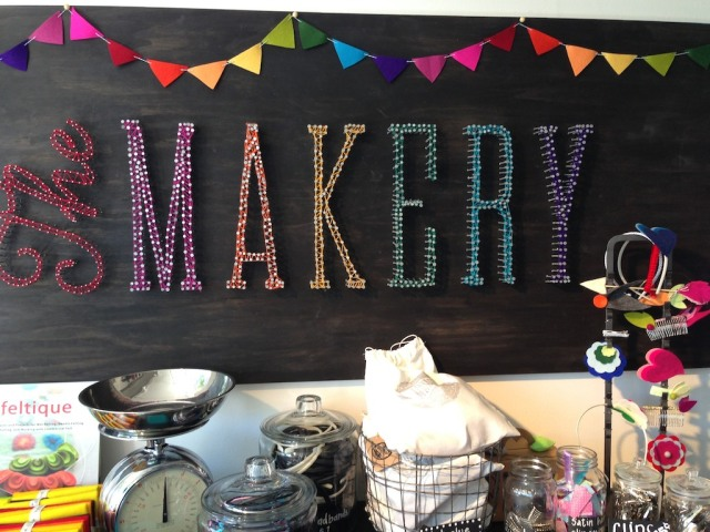 The Makery String Sign