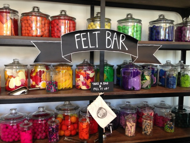 The Felt Bar at the Makery