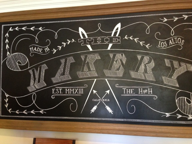 The Makery Chalkboard Sign