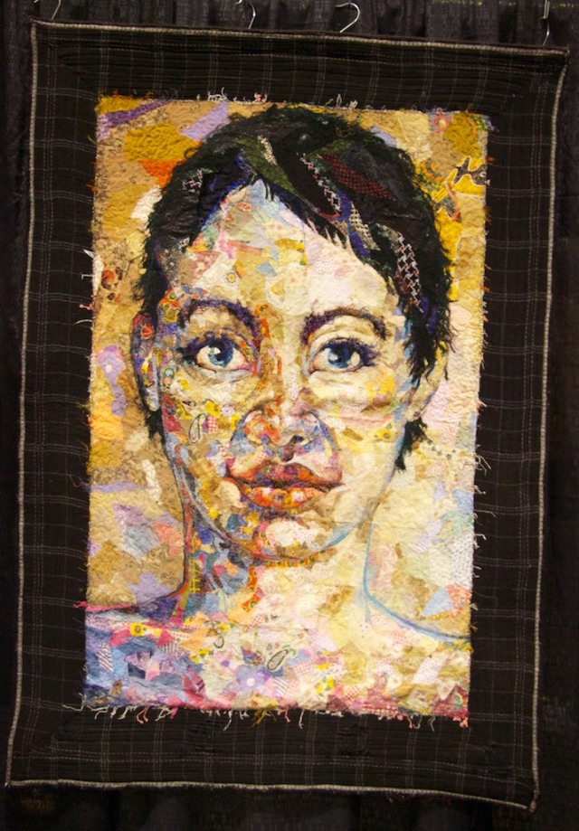 Shattered Face Quilt by Kathryn Harmer Fox