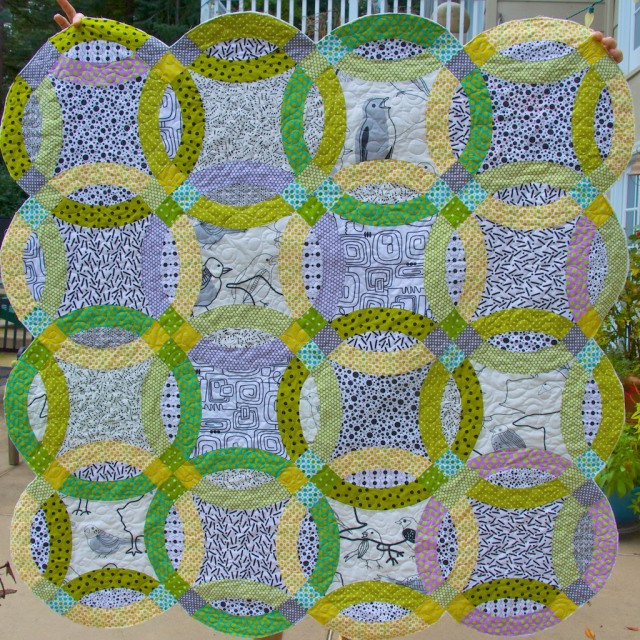 piecedgoods Double Wedding Ring Quilt