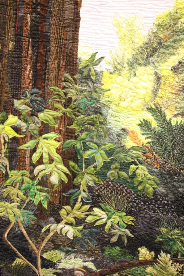 "Pat Durbin - Sunlight in the Forest 58""x65"" Detail"