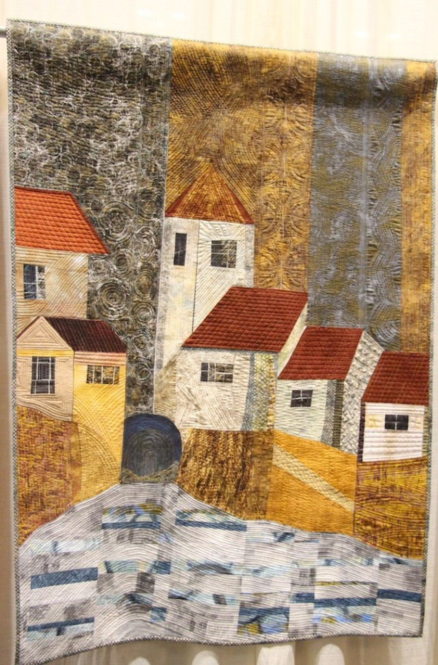 "Carole R Rossi - Village Tower and Beyond 52""x37"""