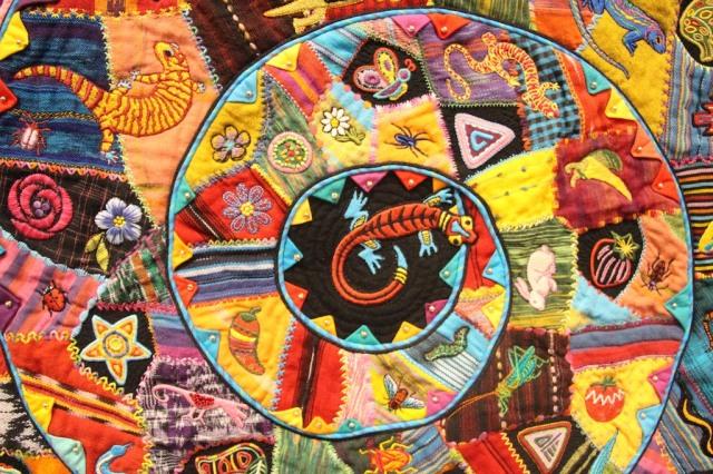 """Ann Horton - Poco Loco 43""""x43"""" Detail"""